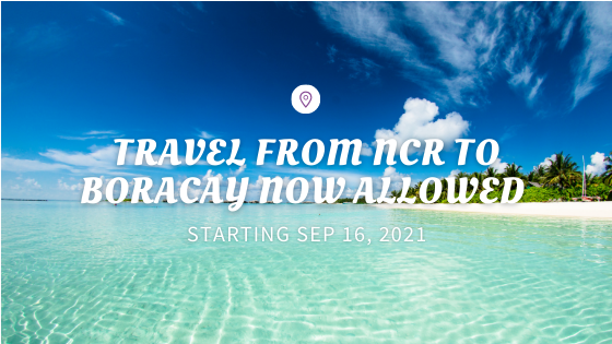 Travel to Boracay Now Allowed